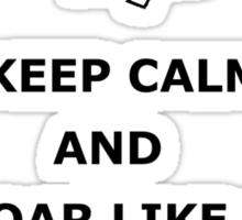 Keep Calm and Soar Like a Leaf on the Wind Sticker