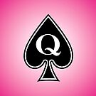 Smartphone Case - Queen of Spades - Magenta by Mark Podger