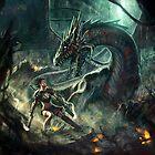 Face a Dragon by Charro by CHARROART