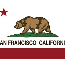 San Francisco California Republic Flag by NorCal