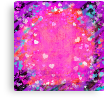 Grunge hearts abstract art II Canvas Print
