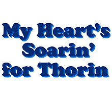 My Heart's Soarin' for Thorin - blue by artandrhinos