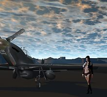 Sky Captain's P-51d Fighter by Sazzart