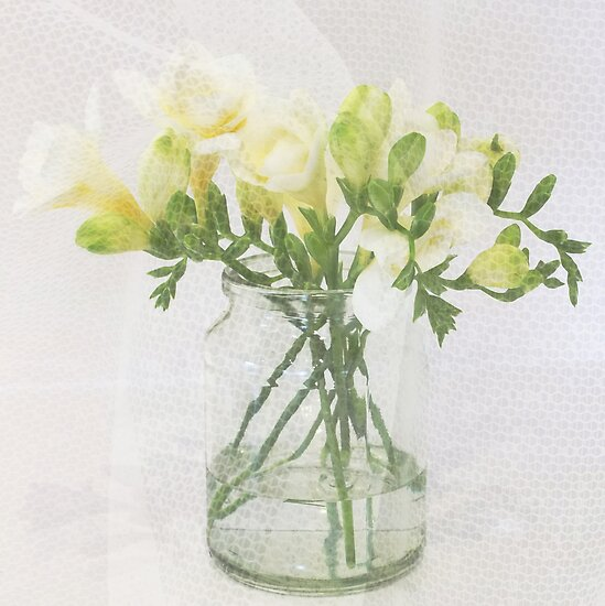 Sweet Freesias by DIANE  FIFIELD