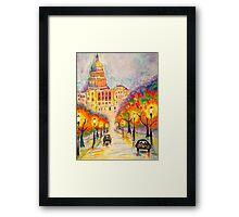Washington D.C. - The Capitol at Dusk Framed Print