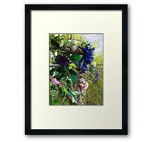 Festive Maypole Fence Framed Print