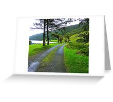 The Path By The Lake Greeting Card