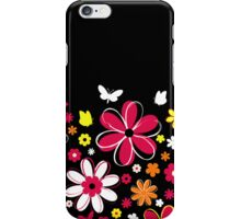 Abstract Flowers w/black background iPhone Case/Skin