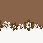 Abstract Flowers w/brown background by RocketmanTees