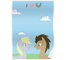 Valentines - Doctor and Derpy Poster