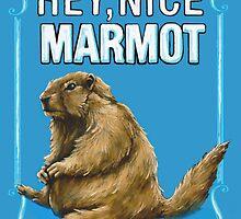 BIG LEBOWSKI- the Dude - Hey, Nice Marmot by MichelleEatough