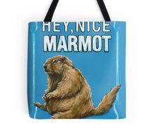 BIG LEBOWSKI- the Dude - Hey, Nice Marmot Tote Bag