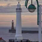 Seaburn and Roker Lighthouse. by Avril Harris