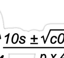 Quad-erratic Equation Sticker