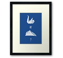 Swan or Sydney Opera House? Framed Print