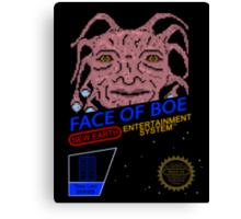 NINTENDO: NES Face Of Boe Canvas Print