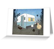 Travel Trailer & Sandhill Crane  Greeting Card