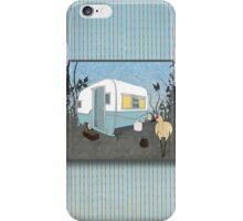 Travel Trailer & Sandhill Crane  iPhone Case/Skin