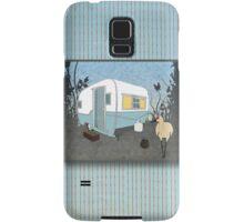 Travel Trailer & Sandhill Crane  Samsung Galaxy Case/Skin