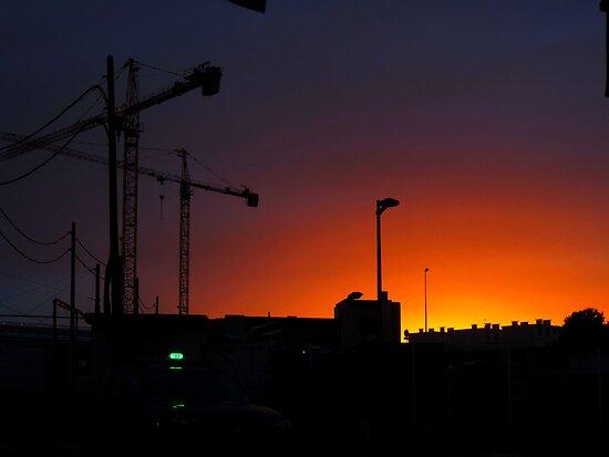 City sunset by Paul Pasco