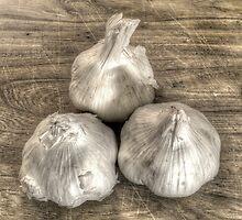 Three Bulbs of Garlic by Geoffrey Coelho