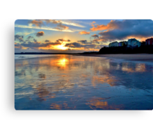 Sunset in Tenby Canvas Print