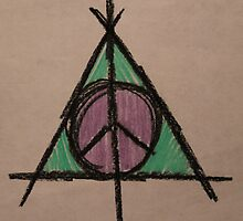 My Original Deathly Hallows and Peace Symbol by Amber Batten