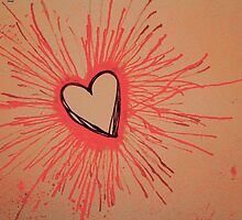 Exploding Heart Pink by Amber Batten