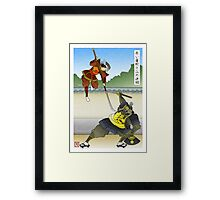 The Red Viper Dueling the Mountain Framed Print