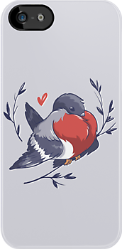 Red Heart Bird by hbitik