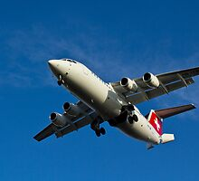 Swiss Air BAE 146 by DavidHornchurch