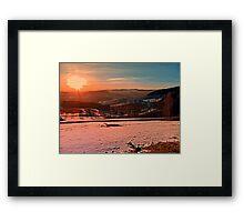 Colorful winter wonderland sundown II | landscape photography Framed Print