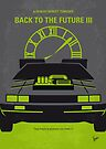 No183 My Back to the Future minimal movie poster-part III by Chungkong