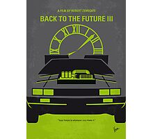 No183 My Back to the Future minimal movie poster-part III Photographic Print