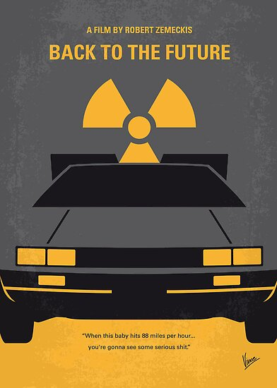No183 My Back to the Future minimal movie poster by Chungkong