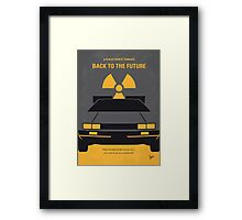 No183 My Back to the Future minimal movie poster Framed Print