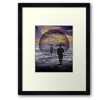 Walking into a changing Sea Framed Print