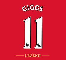 Giggs Legend Number 11 Shirt by Aaron Pacey