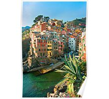 Italy. Cinque Terre - Canal side Poster