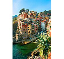 Italy. Cinque Terre - Canal side Photographic Print
