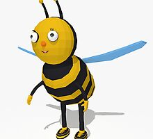 Cartoon bee low poly style by C4Dart