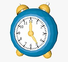 Cartoon clock low poly style by C4Dart