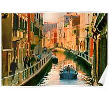 Italy. Venice Silent path Poster