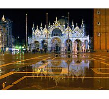 Italy. Venice at night Photographic Print