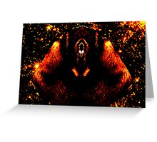 Warped dog lost in low resolution space Greeting Card