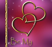 Be My Valentine Gold Hearts by jkartlife