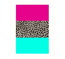 Leopard National Flag Art Print