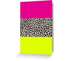 Leopard National Flag X Greeting Card