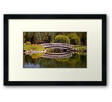 Garden Bridge Reflections Framed Print