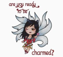 "League of Legends - Ahri ""Ready to be Charmed?"" ;) [Apparel & Transparent Stickers] by charsheee"